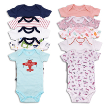 5 pcs/lot Newborn Baby boy girls Clothing Cotton Short Sleeve girl Clothes Infant Jumpsuit Body for Babies Bodysuit