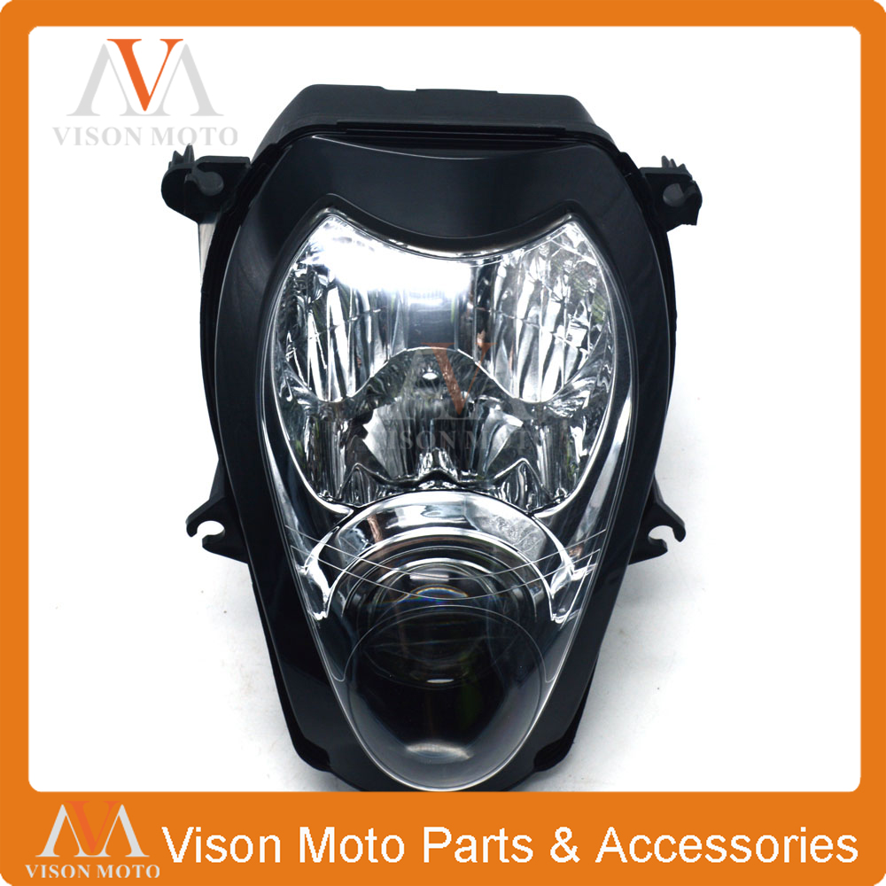 Motorcycle Front Light Headlight Head Lamp For SUZUKI Hayabusa GSXR1300 GSXR 1300 1999 2000 2001 2002 2003 2004 2005 2006 2007 for suzuki gsx r600 750 gsxr 1000 gsxr1300 99 07 1 pair front brake disc motor hayabusa tl1000s 2000 2001 2002 2003 gold