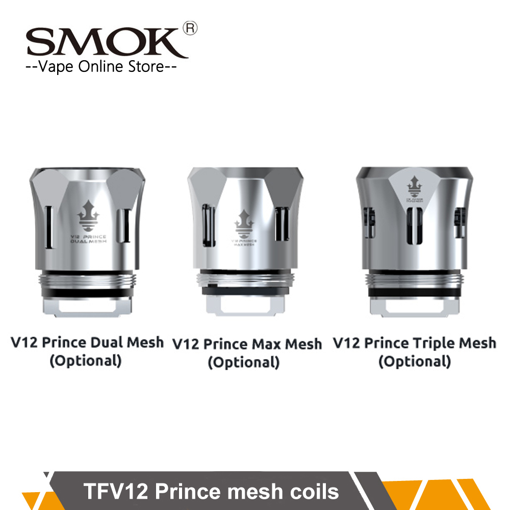 3pcs/lot Original SMOK TFV12 prince mesh coils newest Mesh coils fit for Smok TFV12 prince TFV12 prince Cobra edtion tank