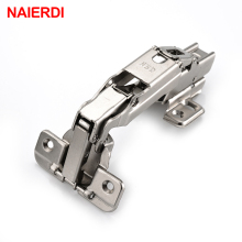 NAIERDI CA003 175 Degree Cold Rolled Steel Fixed Hinge Rustless Iron Cabinet Cupboard Door Hinges For Furniture Hardware