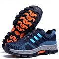 Мужчины большой размер дышащий летом стальной носок, рабочая, защитная обувь нижней пластине оснастки сапоги свет защитная обувь мужчина