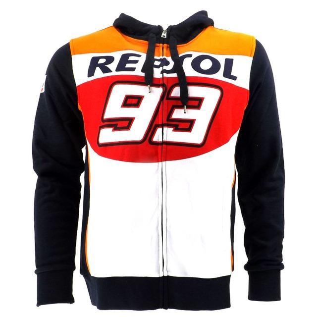 Envío gratis 2016 nuevo marc márquez 93 hon moto gp repsol racing motogp moto deportiva con capucha capa