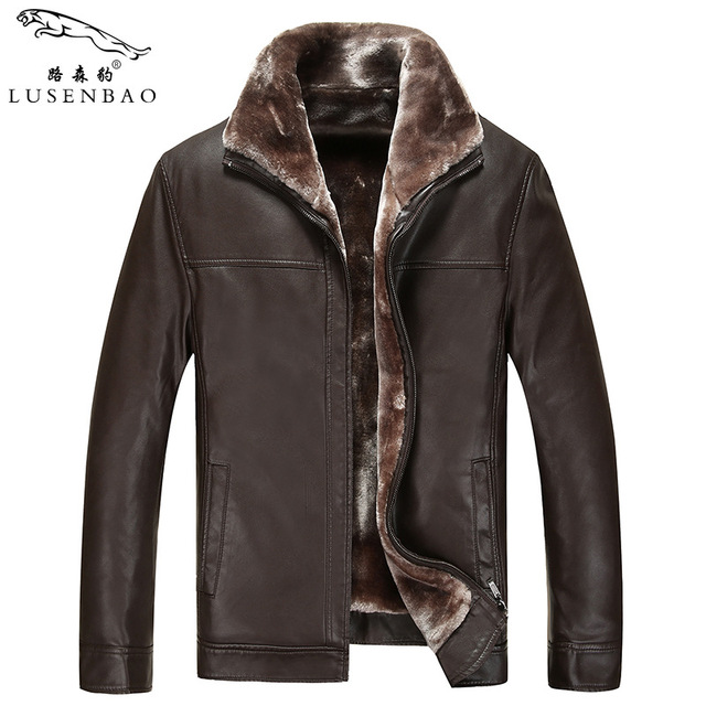 M-3XL!!! Mens Leather Jackets And Coats Men's Fashion Leisure Male Leather Jacket  Male Fur Coat Thickening Warm Winter Jacket
