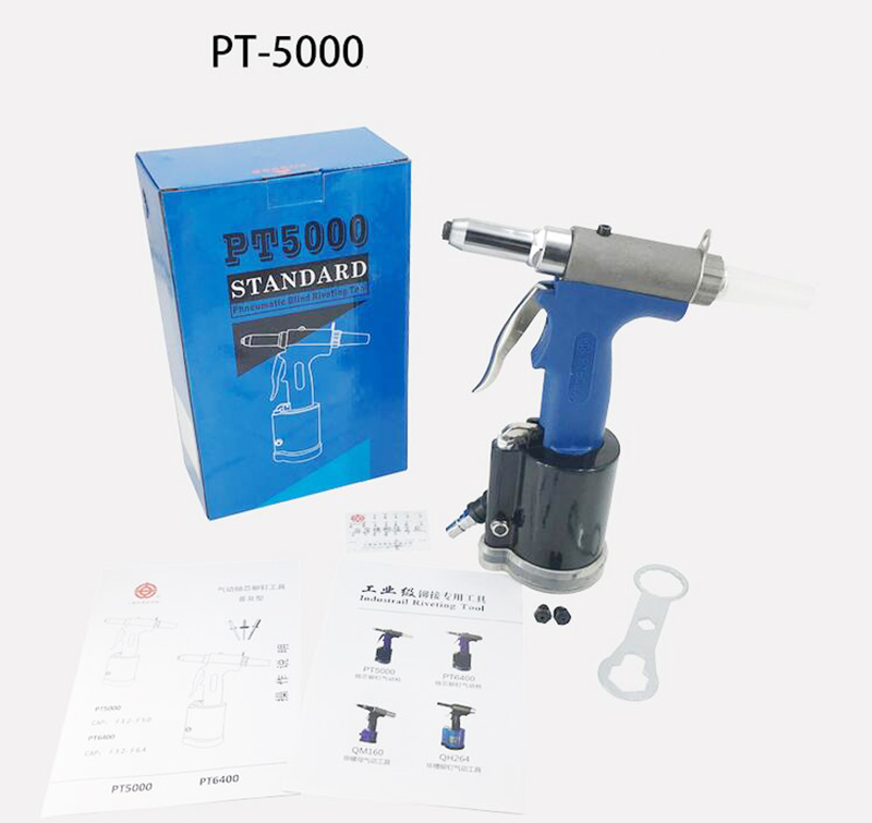 цена на PT5000 Pneumatic Rivet Gun Pull Nail Rivet Machine Blind Rivet Gun 3.2-5mm Y
