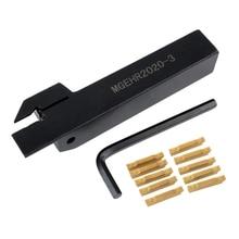 10 قطعة Mgmn300 M إدراج + Mgehr2020 3 اليد اليمنى حامل أدوات عمود تخريم مع وجع ل مخرطة قطع تحول أداة