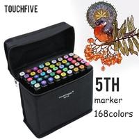 TOUCHFIVE 30/40/60/80/168 couleur Croquis Marqueurs Double Tête Alcool Marqueurs Peinture Art Fournitures brosse Stylo Pour Manga