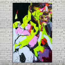 Palette knife portrait Face Oil painting Character figure canva Hand painted Francoise Nielly wall Art picture for living room37