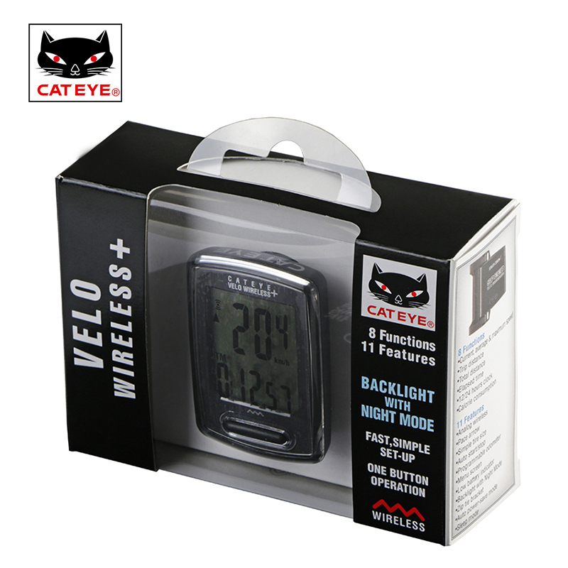 CATEYE Bicycle Computer Cycling Bike Wireless Speedometer Stopwatch Bicycle Waterproof Backlight Speed Sensor Odometer Computer cateye bicycle computer wired bike speedometer with cadence sensor mtb rode bike stopwatch computer speedometer for bicycle