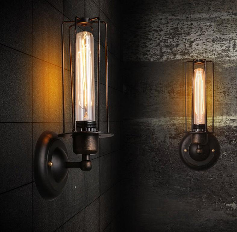 corridor warehouse Creative personality retro wall new bar restaurant coffee director Di iron wall lamp wall lamp personality creative rope restaurant wall light simple pastoral iron retro wall lamp double section turner lighting