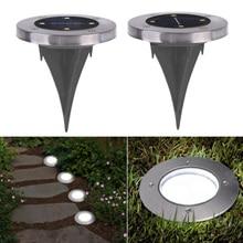4 LED Buried Solar Power Light Under Ground Lamp Outdoor Path Way Garden Decking