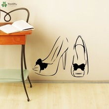 YOYOYU Wall Decal Vinyl Art Home Decoration Beauty Salon Woman Shoes Sticker Removeable Poster Mural YO558