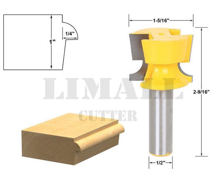 1/2 handle cabinet door lip and tapered slot milling cutter bit  цены