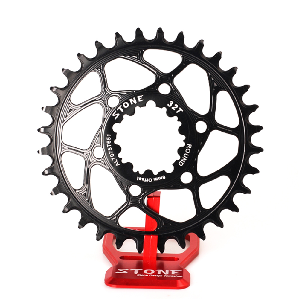 Stone Round Circle Single Chainring 6mm Offset Direct Mount For GXP X9 X0 XX1 XO1 12