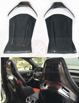 ที่นั่งด้านหลังคาร์บอนไฟเบอร์สำหรับ Mercedes - Benz CLA A45 AMG C - class W205 C63 ที่นั่งพนักพิงด้านหลัง trim