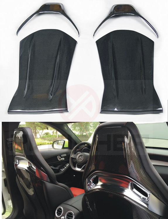 Seat Back Carbon Fiber For Mercedes-Benz CLA A45 AMG C-class W205 C63 Seat Backrest Back Trim