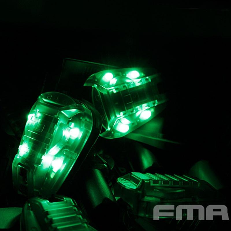 FMA Survival HEL STAR 6 Helmet Mounted LED Marker Strobe Light Green Light