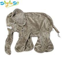 60 سنتيمتر الفيل العملاق الجلد ألعاب من نسيج مخملي لا PP قطن قطيفة الحيوان لينة الفيل الطفل وسادة نوم الاطفال اللعب