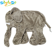 60CM Giant Elephant Skin Plush Toy No PP Cotton Plush Animal Soft Elephant Baby Sleeping Pillow Kids Toys