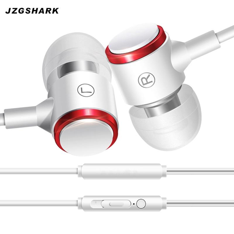 De Metal Fones De Ouvido de 3.5mm Fone de ouvido de Telefone Inteligente Remoto Música auriculares Fones de ouvido MP3 Player Baixo som audifones com Microfone QUENTE