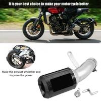 Motorcycle Slip on Exhaust Muffler Rear Pipe Tailpipe for BMW S1000RR 2015 2016 Carbon Fiber