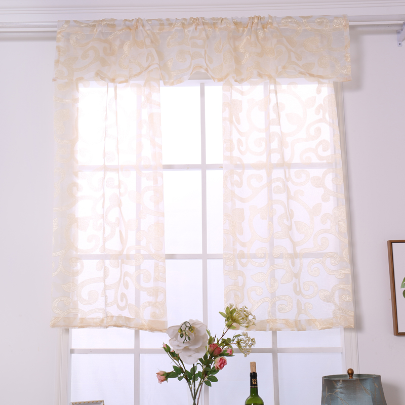 Modern Style Sheer Curtains For Living Room Gray Yellow