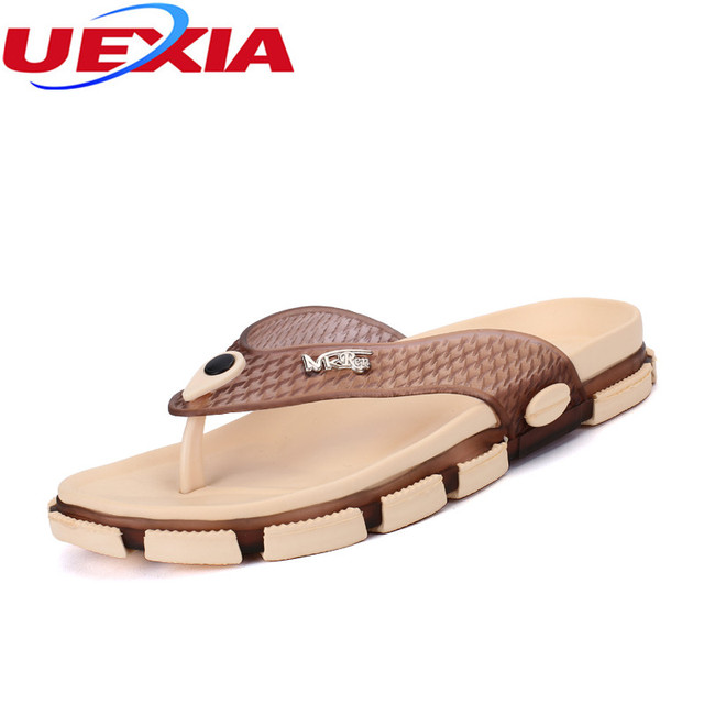 35e1559beed Zomer Superster Ademend Slippers Mannen Rubber Sandalen Toevallige Strand Schoenen  Slippers Mannen Jelly Schoenen Plus Size