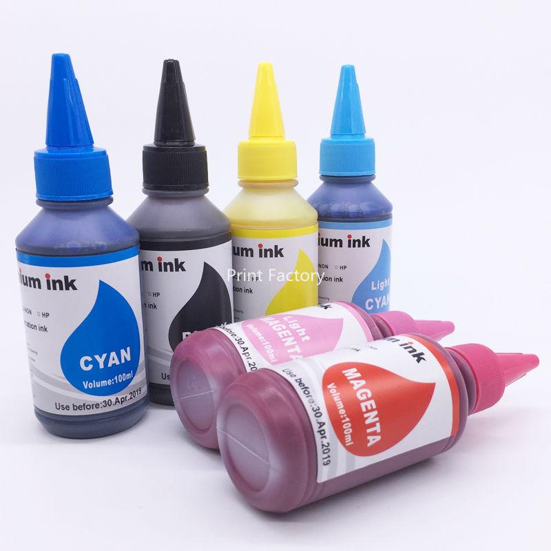 6 Bottles T0791-T0796 Sublimation Ink For Epson Stylus Photo 1400 PX700W PX800FW P50 PX830FWD Artisan 1430 BK C M Y LC LM