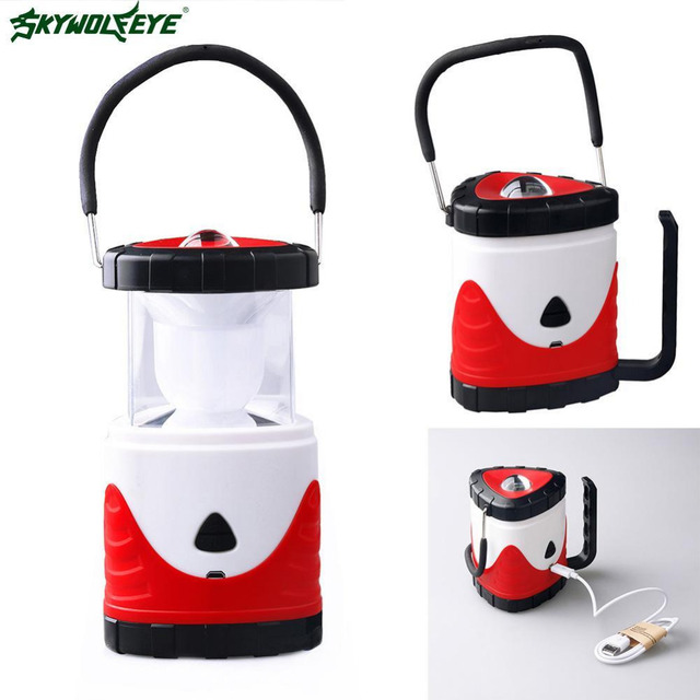 3 In 1 Bright Lightweight 10 LED Camping Lantern Outdoor Portable Colorful  Lights Water Resistant Tent