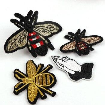 Mini Bee Hände Patches Stickerei Eisen Auf patch Dekoration Zubehör Bestickt Patch Für Kleidung Für T-shirt