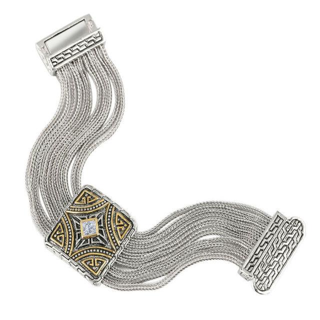 Uny nuevo estilo personalidad temperamento de moda pulseras mujer joyería pulseras de la aleación de oro blanco plateó la joyería BR34
