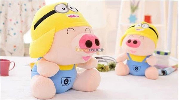 Fancytrader 37\'\' 95cm Super Lovely Soft PlusH Stuffed Giant McDull Pig, 3 Cartoon Models, Free Shipping FT50732 (9)
