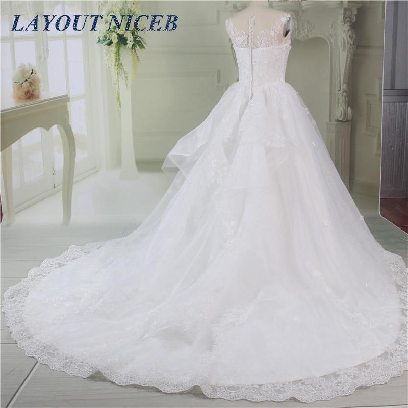 2019 vestido de noiva Ball Gown Wedding Dress Scoop Neck Floor Length robe de mariee Real Image Wedding Gowns Bride Dress