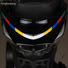 цены diy Reflective universal motorbike sticker motorcycle stickers waterproof for whole body red white blue yellow