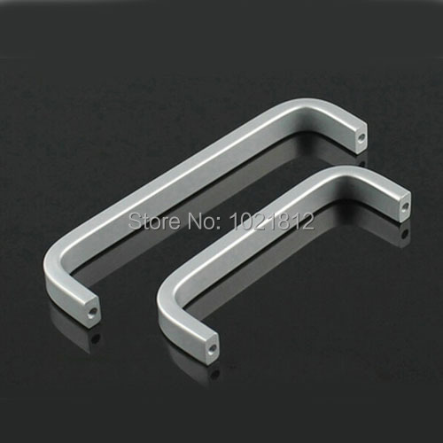 Ручка шкафа пространство Алюминий Шкаф ящика Кухня ручки тянет баров 160 мм расстояние между отверстиями