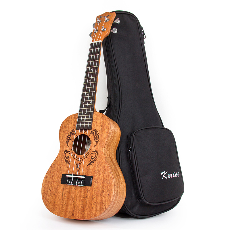 Kmise Concert Ukulele Ukelele Uke Mahogany 23 inch 18 Frets With Gig Bag Aquila String 12mm waterproof soprano concert ukulele bag case backpack 23 24 26 inch ukelele beige mini guitar accessories gig pu leather