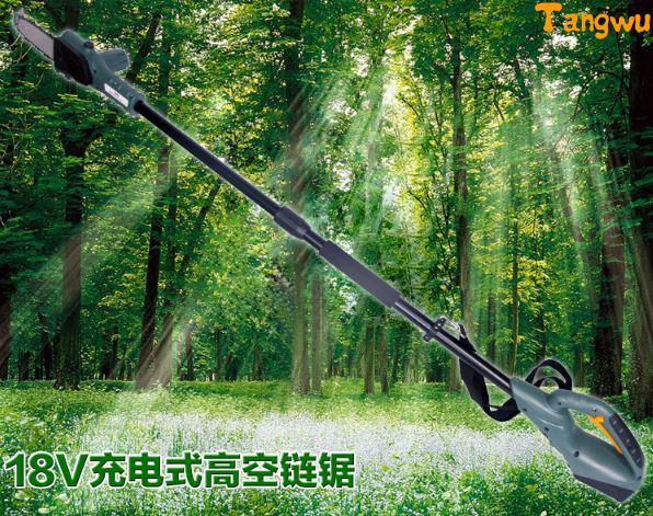 Electric Saw Free shipping 18 v charging mode plug-in. Aerial work saw. Gao zhi saw. Logging. Fruit picking fruit chainsaw