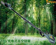 Electric Saw Free shipping 18 v charging mode plug-in. Aerial work saw. Gao zhi saw. Logging. Fruit picking fruit chainsaw(China)