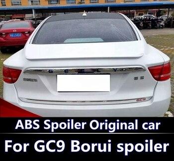 Geely için Borui GC9 Spoiler Yüksek Kaliteli ABS Malzeme Araba Arka Kanat Astar Renk Arka Spoiler Için Geely Emgrand GT, GC9 Borui