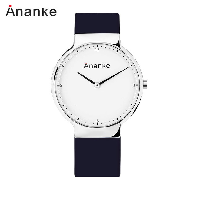 ANANKE Men Fashion Simple Watches Lover's Waterproof Quartz Watches Causal Clock