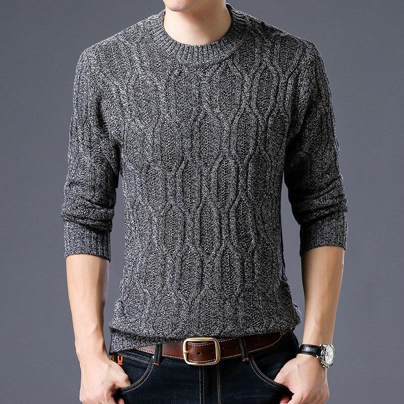 Mens tricots 2018 Laine Hommes Chandail Chaud Épais jumper hommes Pull