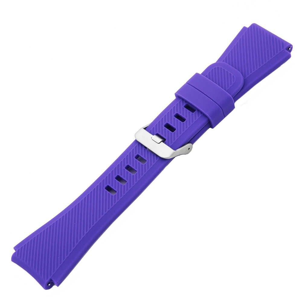 """22 מ""""מ סיליקון גומי צפו בנד עבור Rado Watchband הגברים הנשים רצועת שרף פרק כף היד לולאת חגורה צמיד אדום כחול חום שחור צהוב"""