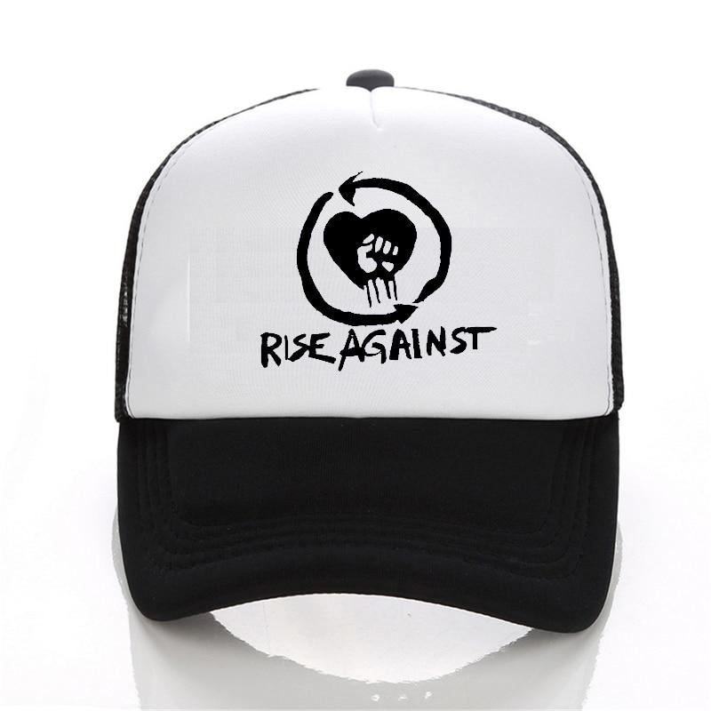 Mode d'été Rise Against Bombs Away casquette de baseball Rock Bande chapeau D'été Cool Baseball Maille Net Casquettes De Camionneur Chapeau