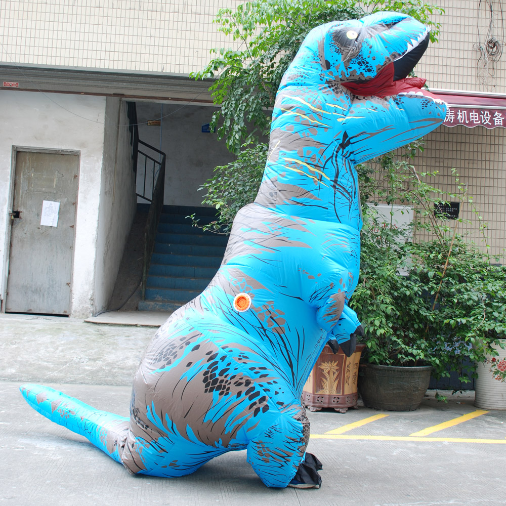 inflatable dinosaur t rex costumes halloween costume for women men cosplay party use for adult anime jumpsuit costume