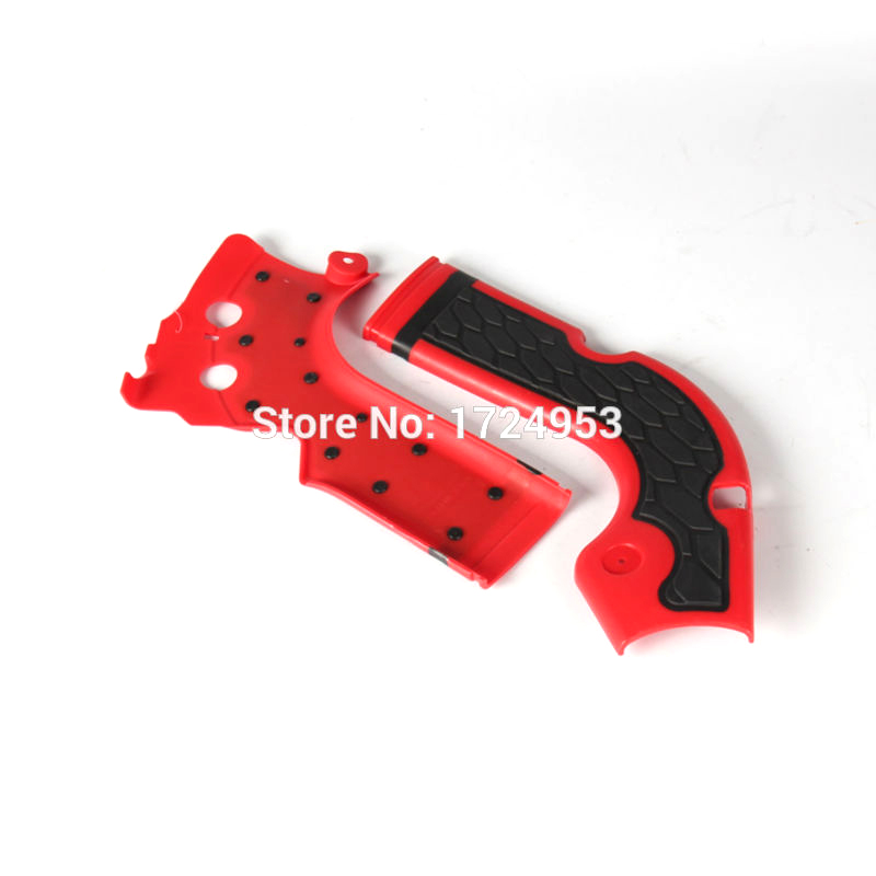 High quality and beautiful Pair Stylish Red Motorcycles Frame Guard for Honda <font><b>CRF</b></font> 250R <font><b>450R</b></font> 2014 -<font><b>2016</b></font> Motocross Frame Protector image