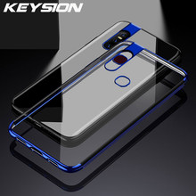 KEYSION Phone Case for VIVO V11 V15 Pro V9 Y97 Y95 Y93 Y83 X27 X23 X21 NEX IQOO Ultra Thin Clear Plating TPU Silicon Back Cover(China)