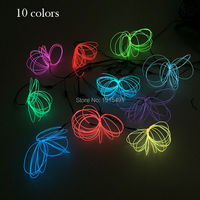 High quality 1.3mm 10M Flexible EL Wire Led Neon 10 Style Glowing ,for Holiday Lighting Decoration With one 5V USB inverter