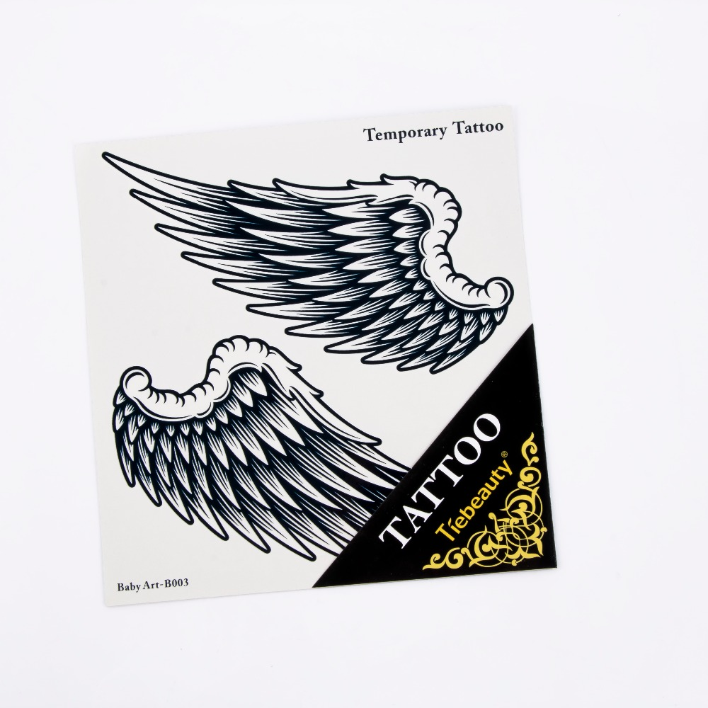 Unisex Sexy Disposable Charming Tattoo Sticker Party Waterproof Body Art Temporary Angel Wings Design Tattoo Sticker