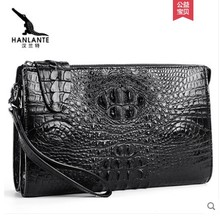 hanlante Thai crocodile leather handbag for men, leather handbag for men, clutch wallet, multi-function bag for men, clutch bag heimanba crocodile men handbag men small double zipper multi card youth luxury real leather thai crocodile handbag business bag