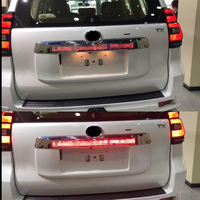 Светодио дный свет Системы Chrome Задняя Крышка багажника Крышка для Toyota Prado 150 Land Cruiser Prado FJ150 2018 аксессуары