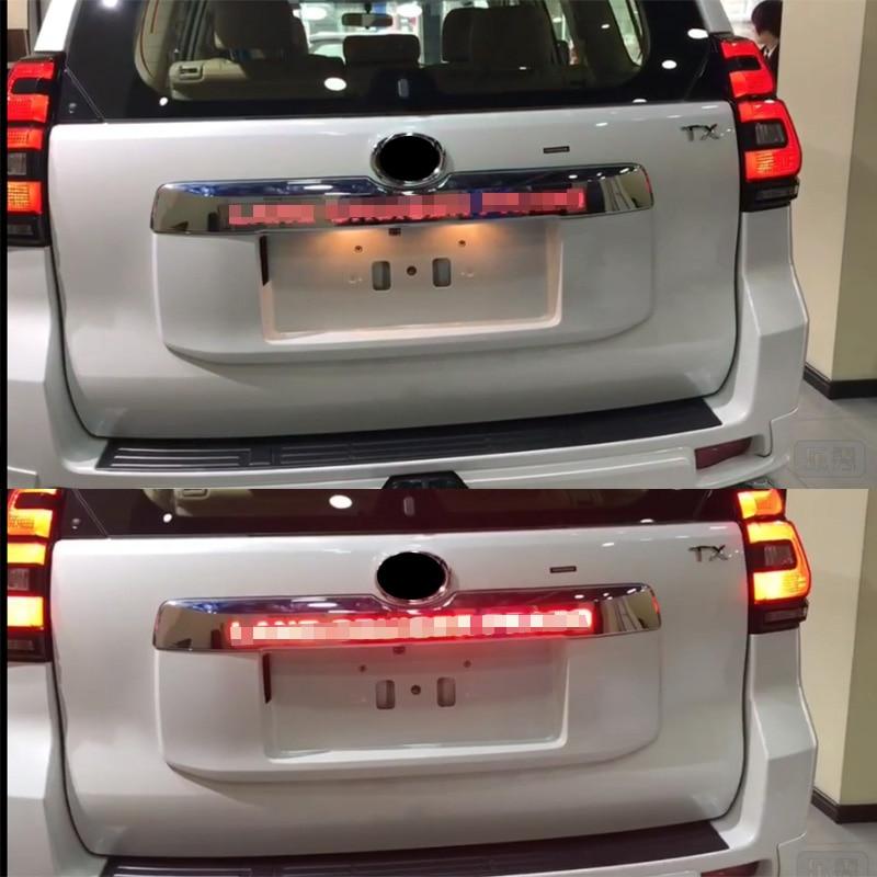 LED light System Chrome Rear Trunk Lid Cover For Toyota Prado 150 Land Cruiser Prado FJ150  2018 AccessoriesChromium Styling   -
